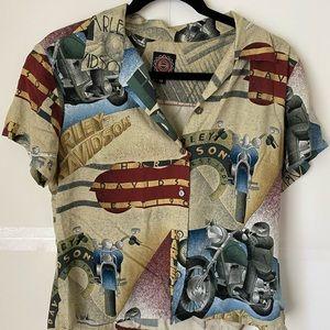 Harley Davidson Youth Medium Short Sleeve Shirt